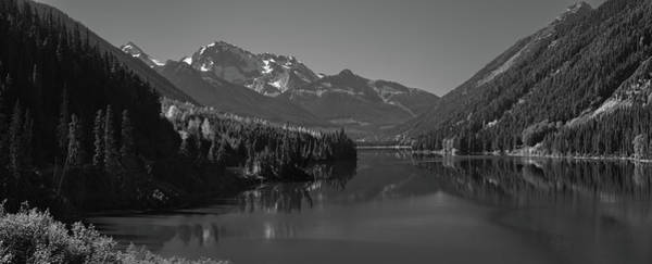 Wall Art - Photograph - Duffey Lake And Mount Rohr British Columbia Canada Black White by Steve Gadomski
