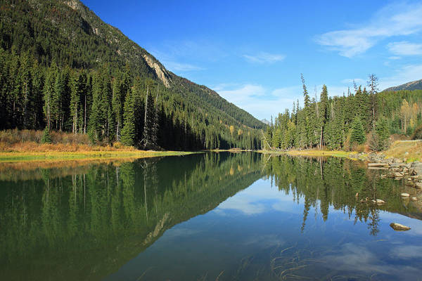 Photograph - Duffey Lake Reflection In Autumn by Pierre Leclerc Photography