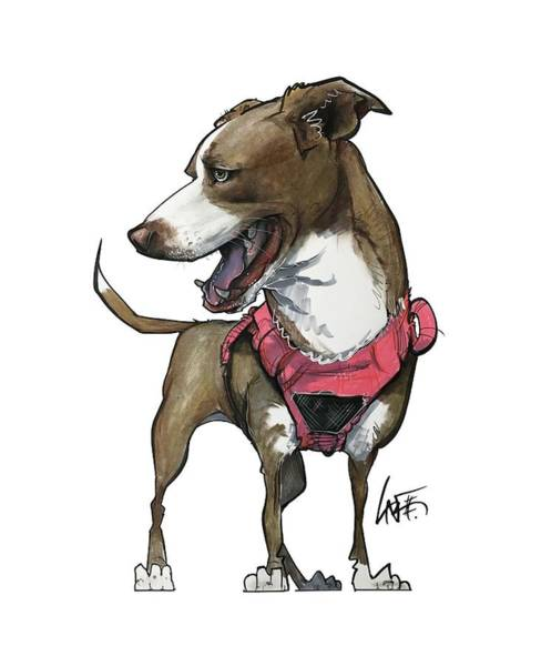 Mutt Drawing - Dufour 3920 Hazel by John LaFree