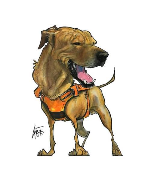 Mutt Drawing - Dufour 3920 Monty by John LaFree