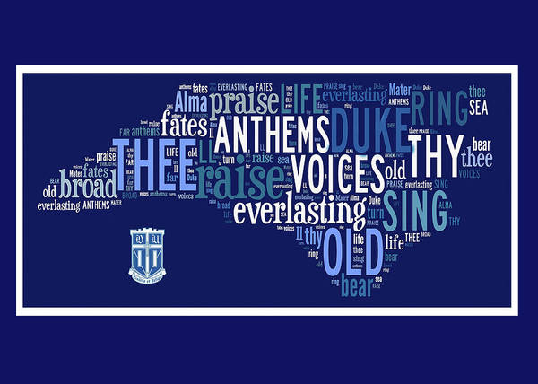 Cheerleaders Digital Art - Duke Alma Mater Greeting Card by Paulette B Wright