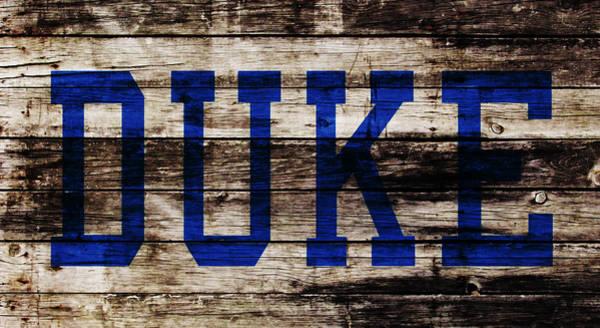 Wall Art - Mixed Media - Duke Blue Devils 5b by Brian Reaves