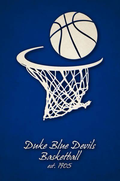 Duke Blue Devils Basketball Art Print