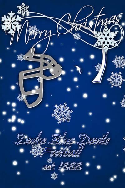 Duke University Photograph - Duke Blue Devils Christmas Card by Joe Hamilton