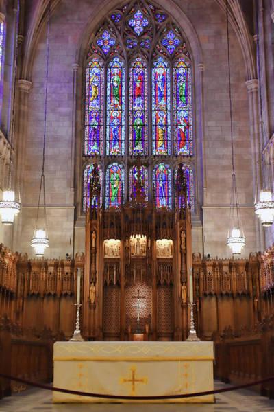 Photograph - Duke Chapel Altar by Paulette B Wright