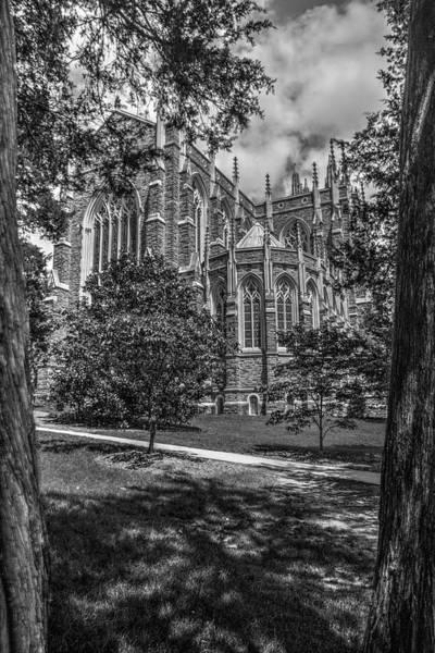 Photograph - Duke Chapel Bw by Dimitry Papkov