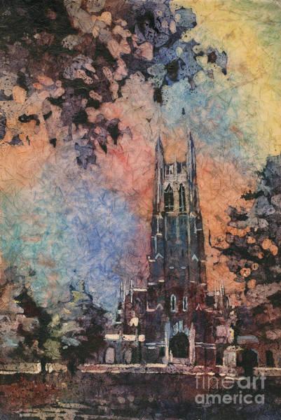 Wall Art - Painting - Duke Chapel On The Duke University Campus by Ryan Fox