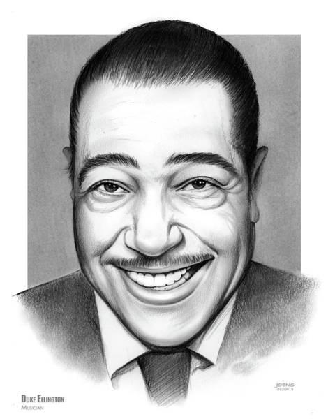 Jazz Musician Wall Art - Drawing - Duke Ellington 2 by Greg Joens