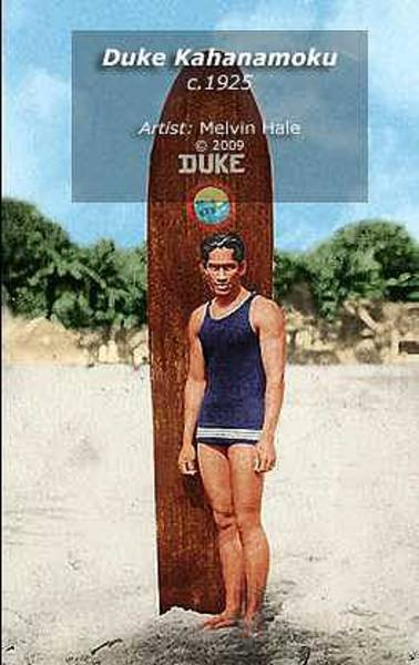 Wall Art - Painting - Duke Kahanamoku C1925 by Melvin Hale