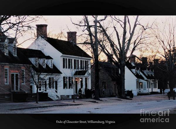 Photograph - Duke Of Gloucester Street by Patti Whitten
