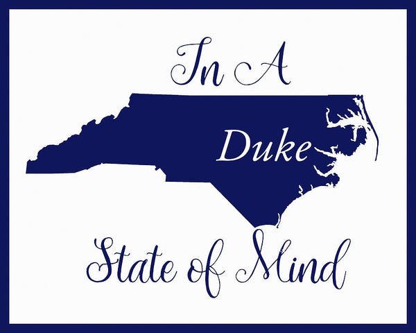 Digital Art - Duke State Of Mind by Paulette B Wright