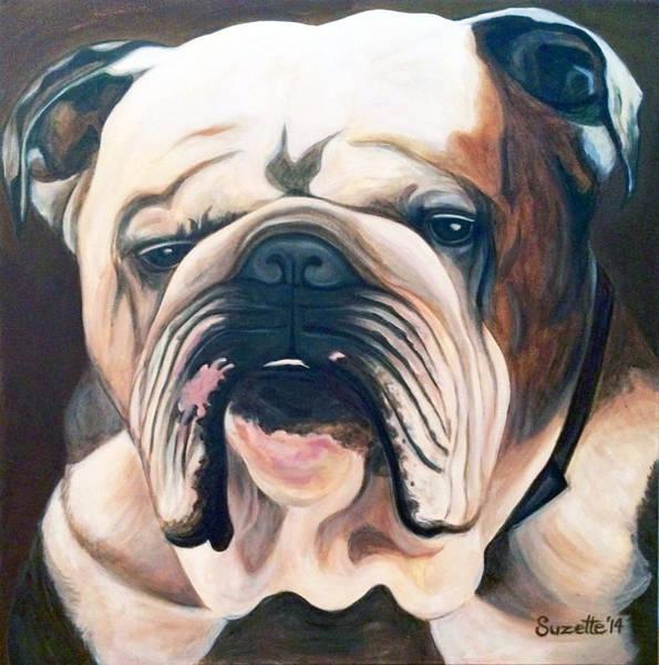 English Bulldog Painting - Duke by Suzette Castro