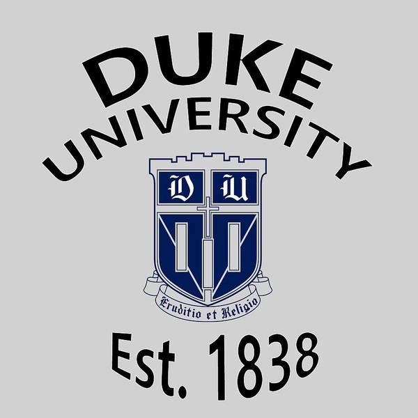 Digital Art - Duke University Est 1838 by Movie Poster Prints