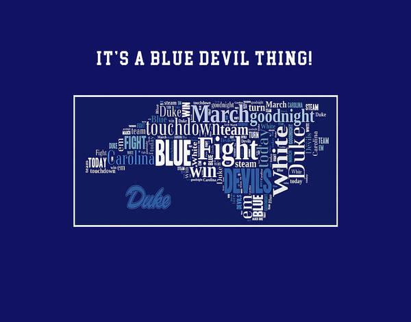 Cheerleaders Digital Art - Duke University Fight Song Products by Paulette B Wright
