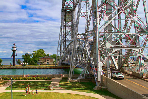 Photograph - Duluth Aerial Lift Bridge by Bonnie Follett