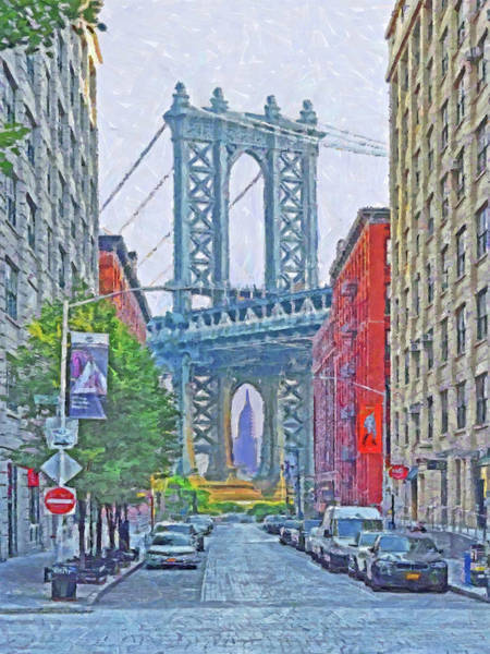 Digital Art - Dumbo -  Down Under The Manhattan Bridge Overpass by Digital Photographic Arts