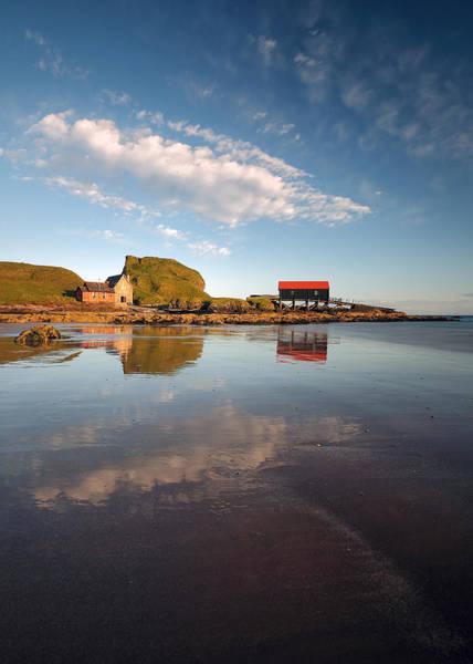 Southend Photograph - Dunaverty Bay Reflections by Grant Glendinning