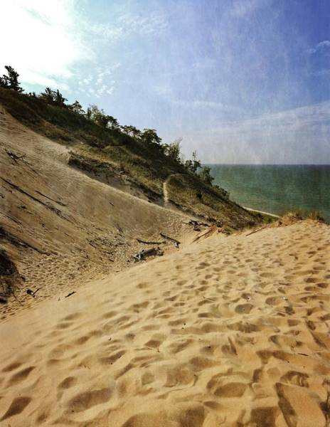 Photograph - Dune And Blue Sky 2.0 by Michelle Calkins