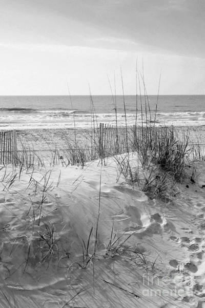 Photograph - Dune - Black And White by Angela Rath