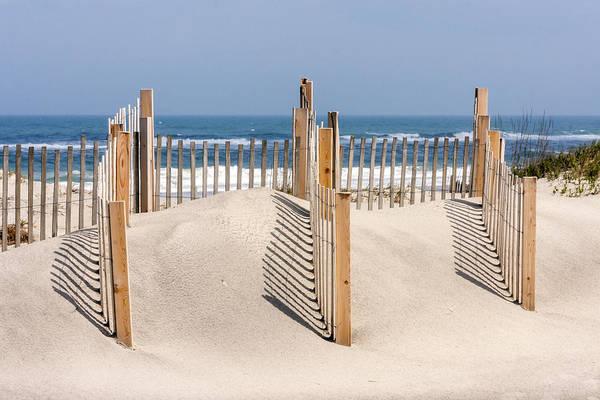 Dune Fence Landscape Art Print