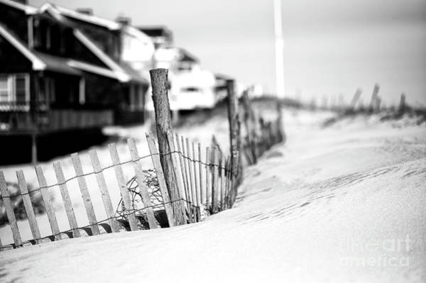 Photograph - Dune Fence Study On Long Beach Island by John Rizzuto