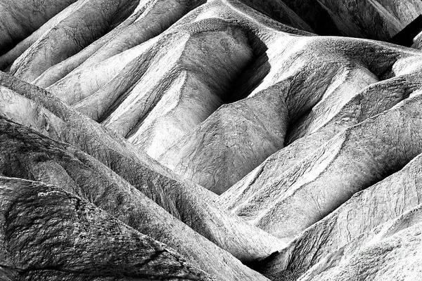 Photograph - Dune Patterns At Death Valley by John Rizzuto