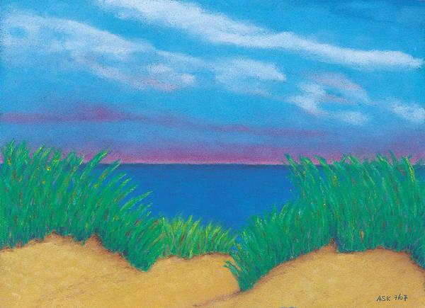Pastel - Dunes At Dawn by Anne Katzeff