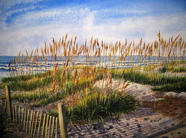Sea Oats Painting - Dunes At Dawn by Shirley Braithwaite Hunt