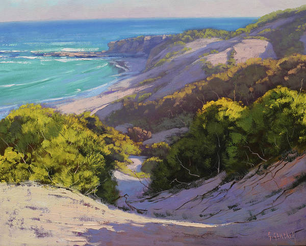 Landscape Scene Painting - Dunes At Soldiers Beach by Graham Gercken