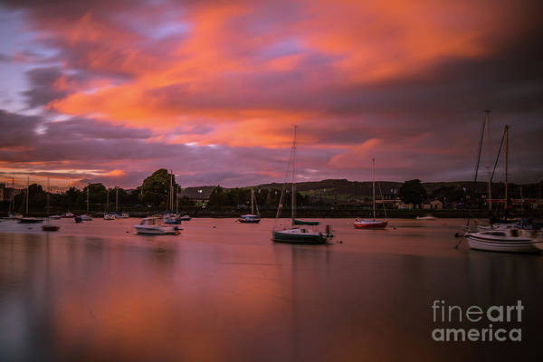 Photograph - Dungarvan Harbor Sunset 1 by Marc Daly