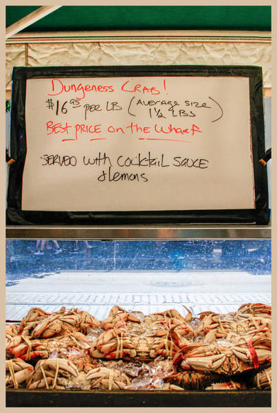 Photograph - Dungeness Crab At Fishermans Wharf by Bonnie Follett