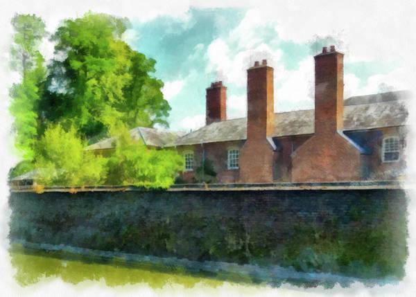 Painting - English Building Aquarell Watercolor Edition by Matthias Hauser