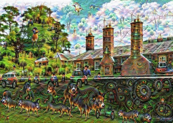 Digital Art - English Building Google Deep Dream Edition 01 by Matthias Hauser
