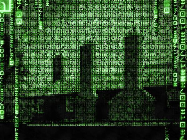 Digital Art - English Building Matrix Edition by Matthias Hauser