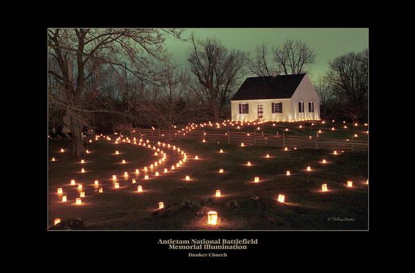 Luminaries Photograph - Dunker Church 07 by Judi Quelland