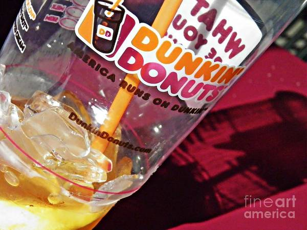 Sarah Photograph - Dunkin Ice Coffee 29 by Sarah Loft