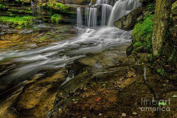 Wall Art - Photograph - Dunloup Creek Falls by Thomas R Fletcher