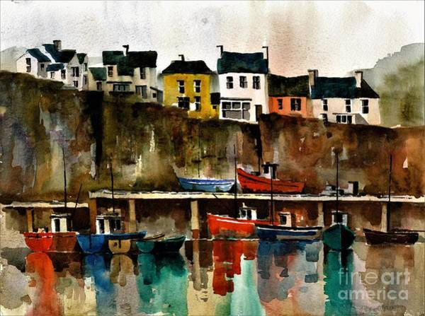 Painting - Dunmore Harbour   Waterford by Val Byrne