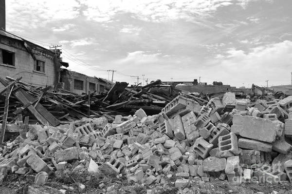 Old Montreal Photograph - Dunn Street Demolition 2 by Reb Frost