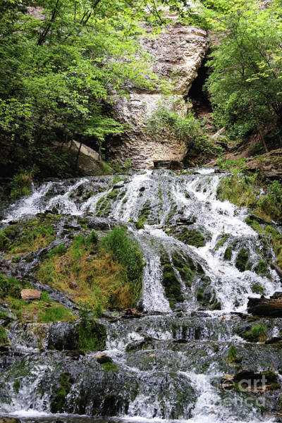 Photograph - Dunning's Springs Waterfall Decorah Iowa  by Kari Yearous