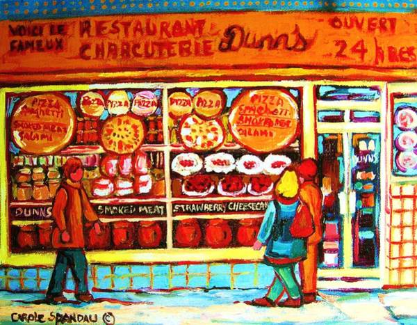 Luncheonettes Painting - Dunn's Treats And Sweets by Carole Spandau