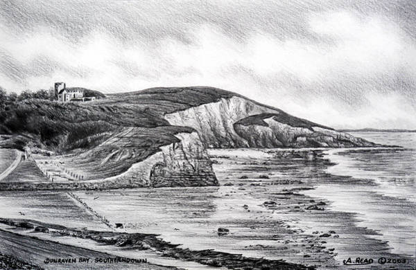 Wales Drawing - Dunraven Bay by Andrew Read