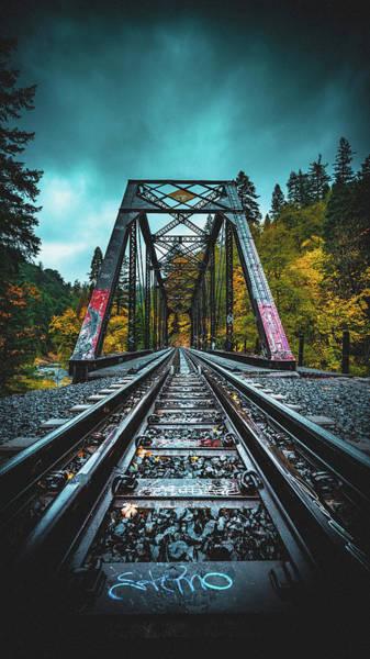 Train Track Photograph - Dunsmir Bridge by Kyle Duffy