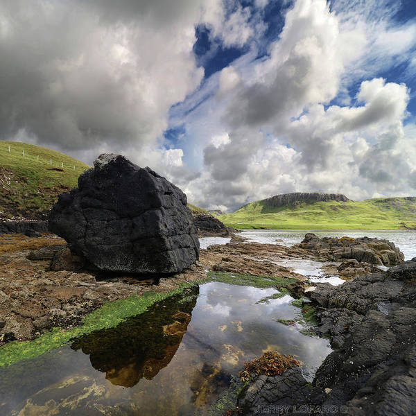 Tidal Photograph - Duntulm by Jerry LoFaro