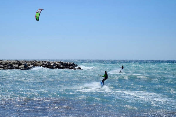 Photograph - Duo Kitesurfing Marseille by August Timmermans