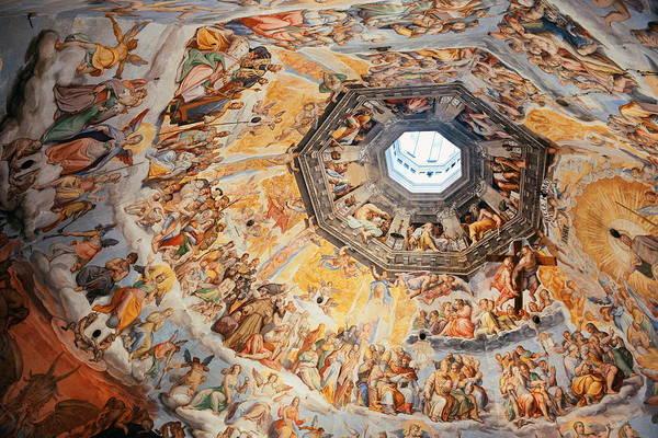 Photograph - Duomo Santa Maria Del Fiore Fresco by Songquan Deng