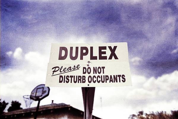 Placard Photograph - Duplex Yard Sign Stormy Sky by YoPedro