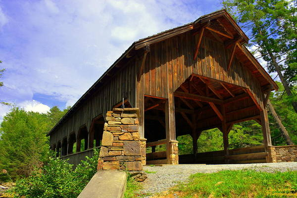 Photograph - Dupont State Forest Covered Bridge by Lisa Wooten