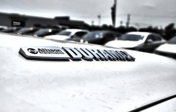 Heavy Duty Truck Wall Art - Photograph - Duramax Badge by Adam Kushion
