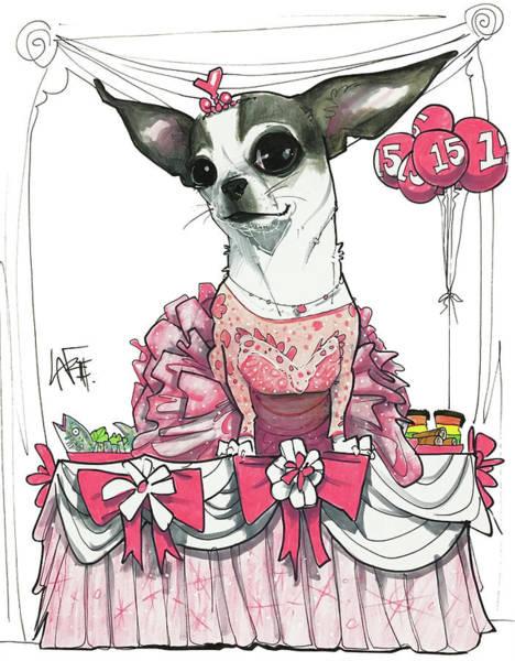 Pet Portrait Drawing - De Rango 3179 by John LaFree